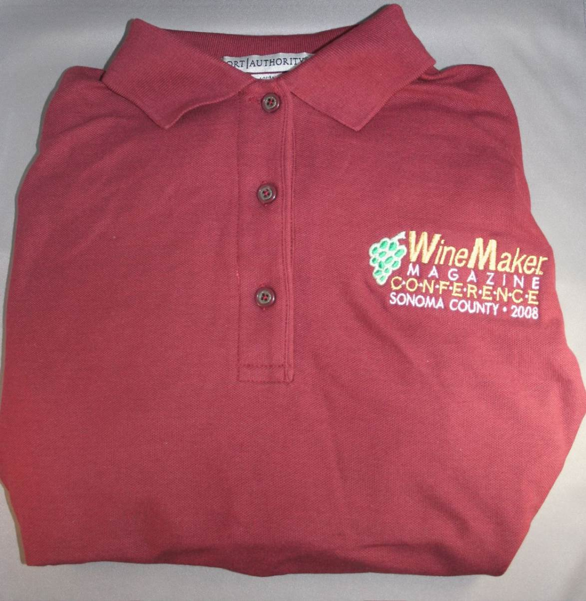 WineMaker 2008 Conference Long Sleeve Polo - Men's